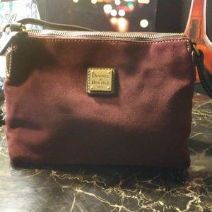 DOONEY & BOURKE burgundy suede handbag